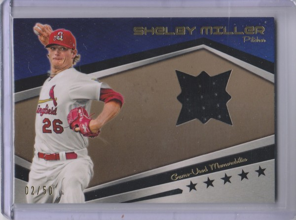 2012 Topps Pro Debut Minor League Materials Gold #SM Shelby Miller