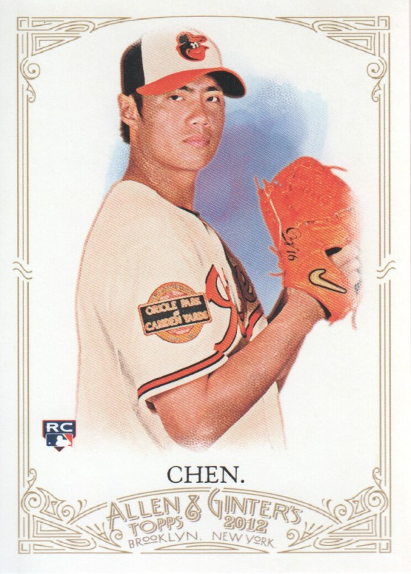 2012 Topps Allen and Ginter #178 Wei-Yin Chen RC