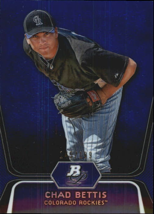 2012 Bowman Platinum Prospects Blue Refractors #BPP5 Chad Bettis