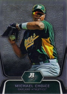 2012 Bowman Platinum Prospects Refractors #BPP8 Michael Choice