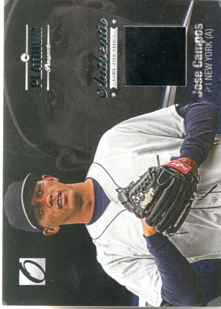 2012 Onyx Platinum Prospects Game Used #PPGU4 Jose Campos/100