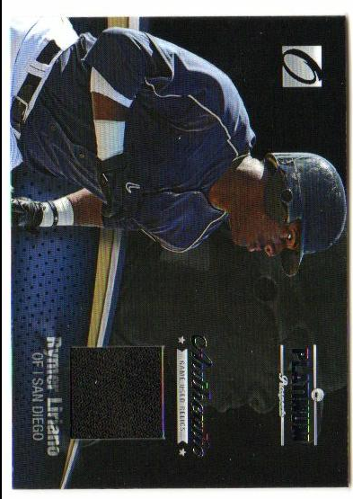 2012 Onyx Platinum Prospects Game Used #PPGU11 Rymer Liriano/100