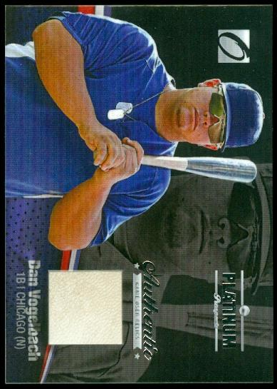2012 Onyx Platinum Prospects Game Used #PPGU21 Dan Vogelbach/150