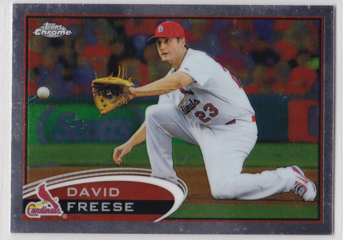 2012 Topps Chrome #104 David Freese