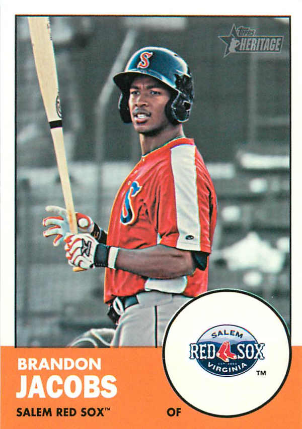 2012 Topps Heritage Minors #103 Brandon Jacobs