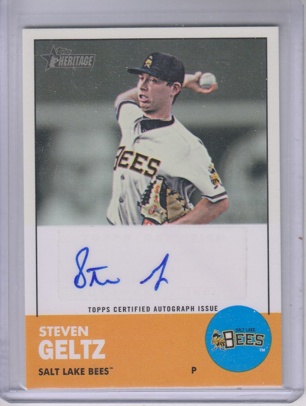 2012 Topps Heritage Minors Real One Autographs #SG Steven Geltz