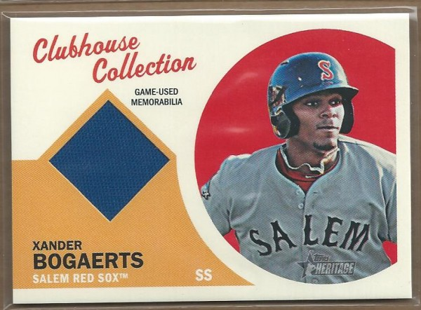 2012 Topps Heritage Minors Clubhouse Collection Relics #XB Xander Bogaerts