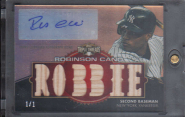 2012 Topps Triple Threads Relic Autographs Ruby #TTAR177 Robinson Cano