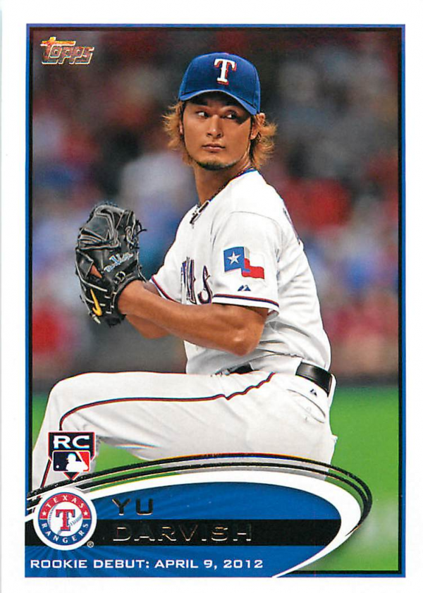 2012 Topps Update #US168 Yu Darvish RC