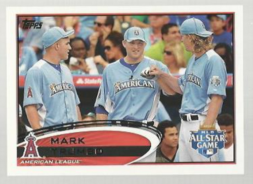 2012 Topps Update #US10B Mark Trumbo/With teammates SP