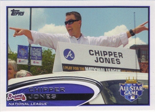 2012 Topps Update #US166B Chipper Jones/With sign SP