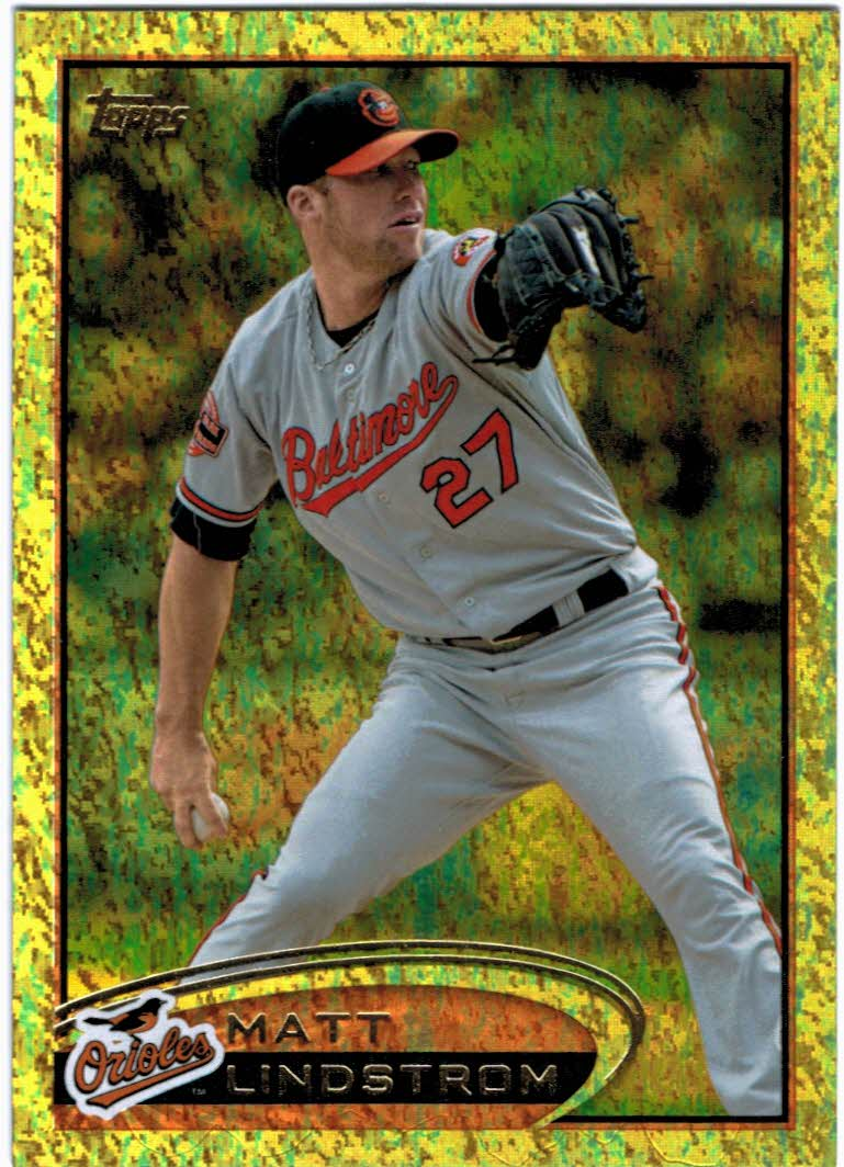 2012 Topps Update Gold Sparkle #US13 Matt Lindstrom