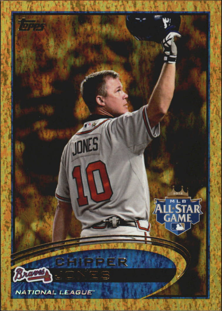 2012 Topps Update Gold Sparkle #US166 Chipper Jones