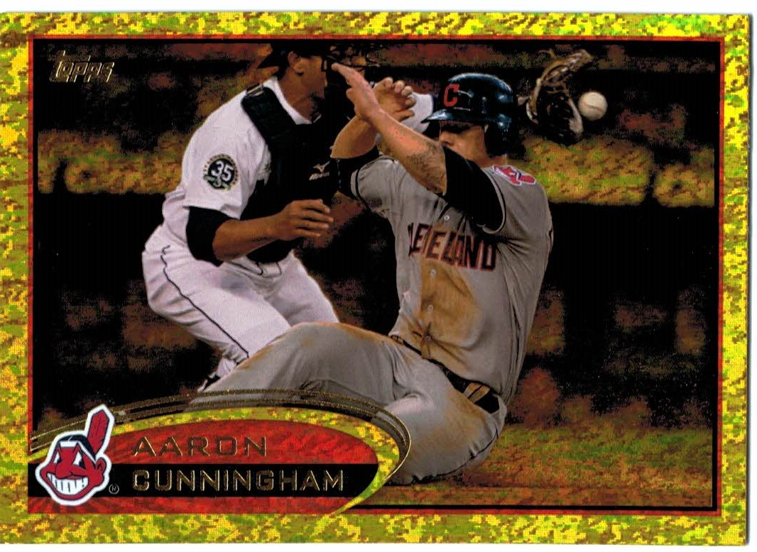 2012 Topps Update Gold Sparkle #US228 Aaron Cunningham