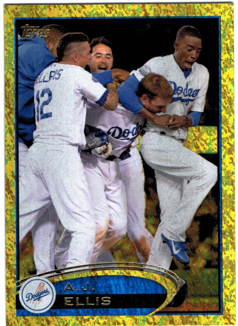 2012 Topps Update Gold Sparkle #US304 A.J. Ellis
