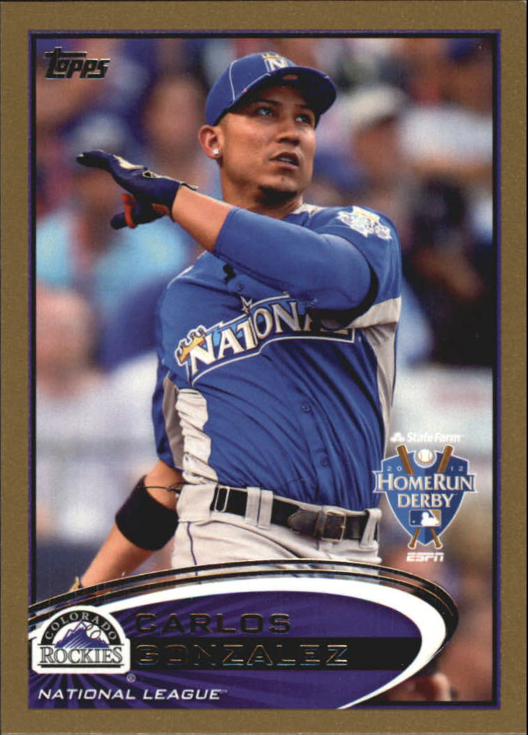 2012 Topps Update Gold #US6 Carlos Gonzalez