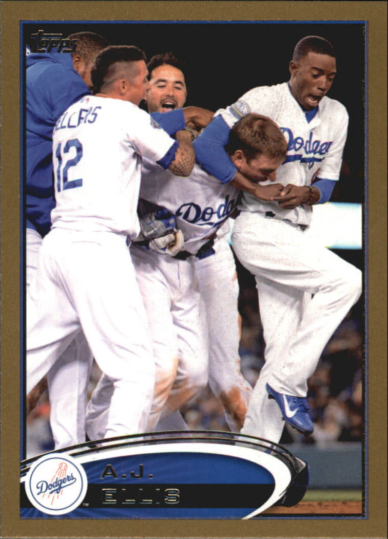 2012 Topps Update Gold #US304 A.J. Ellis