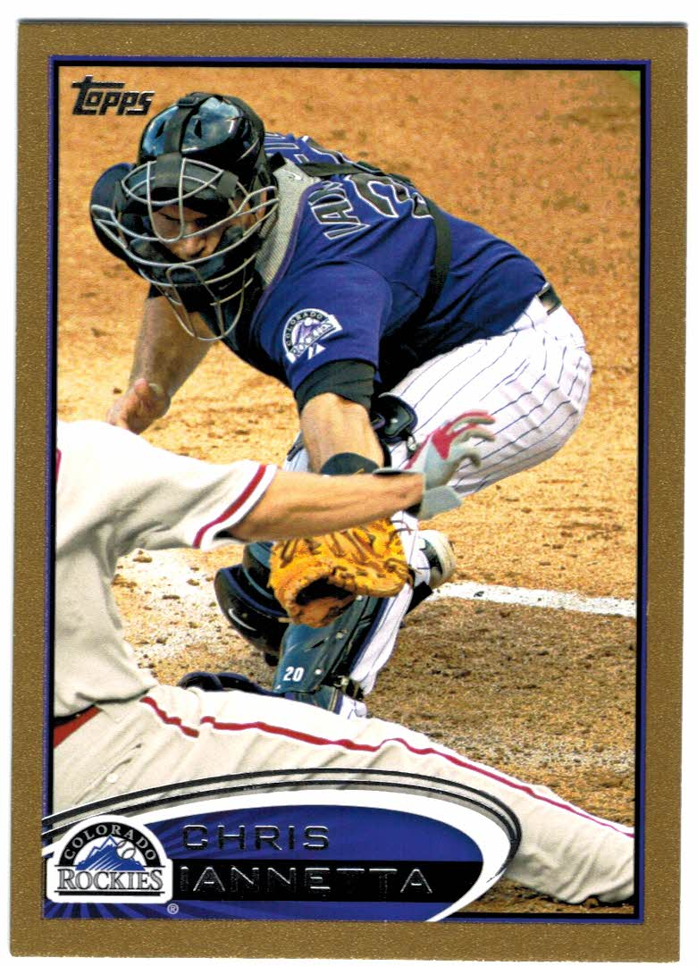 2012 Topps Gold #21 Chris Iannetta