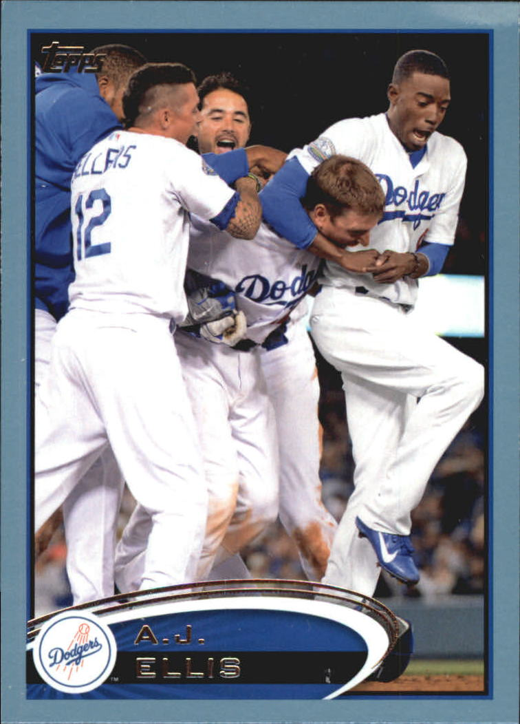 2012 Topps Update Wal-Mart Blue Border #US304 A.J. Ellis