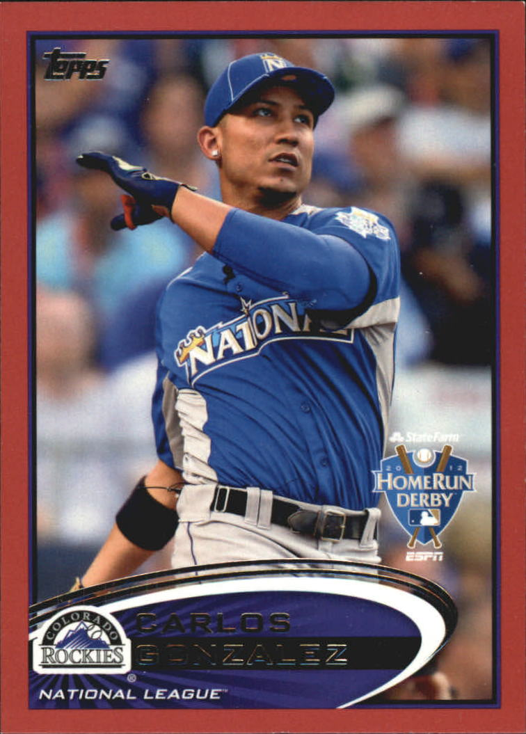 2012 Topps Update Target Red Border #US6 Carlos Gonzalez