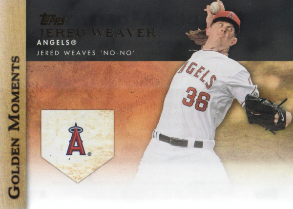 2012 Topps Update Golden Moments #GMU3 Jered Weaver