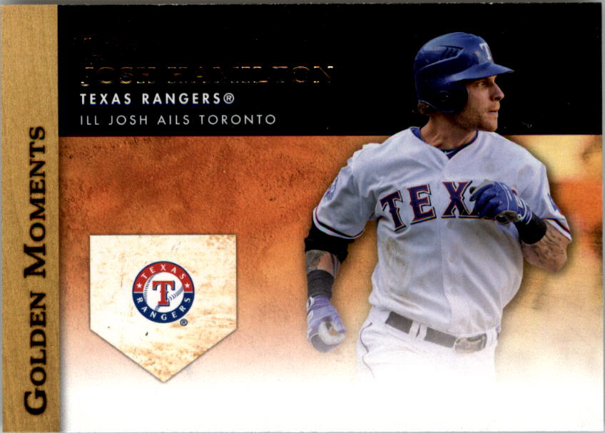 2012 Topps Update Golden Moments #GMU4 Josh Hamilton