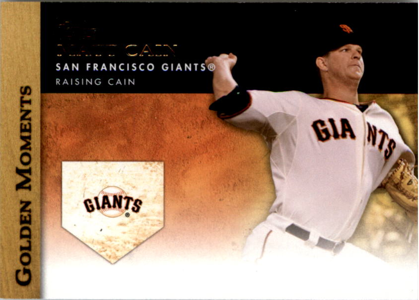 2012 Topps Update Golden Moments #GMU13 Matt Cain