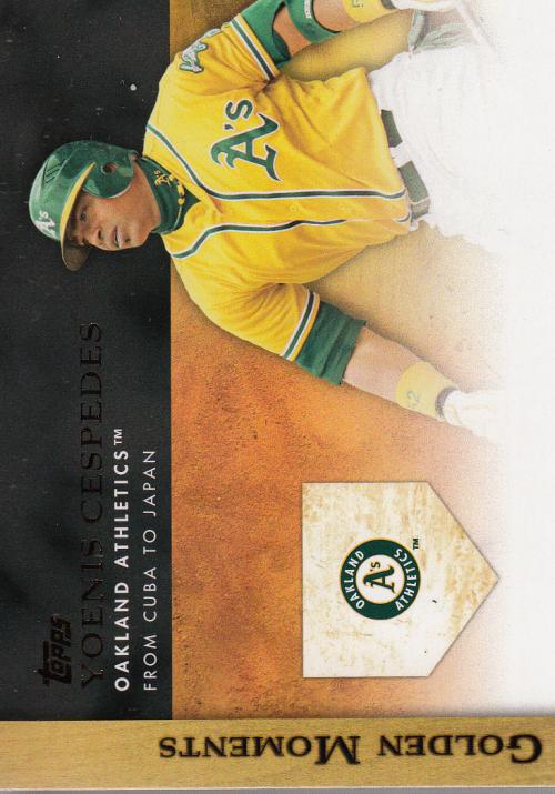 2012 Topps Update Golden Moments #GMU14 Yoenis Cespedes