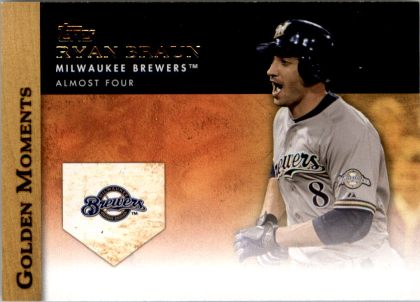 2012 Topps Update Golden Moments #GMU25 Ryan Braun