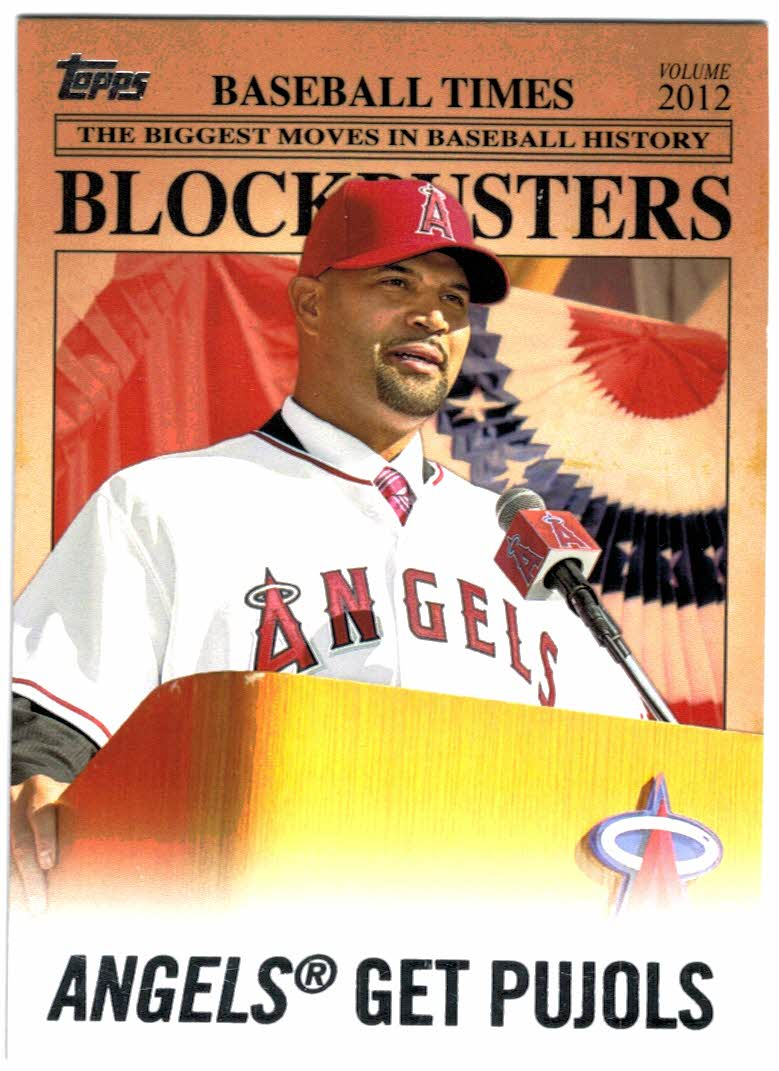 2012 Topps Update Blockbusters #BB1 Albert Pujols