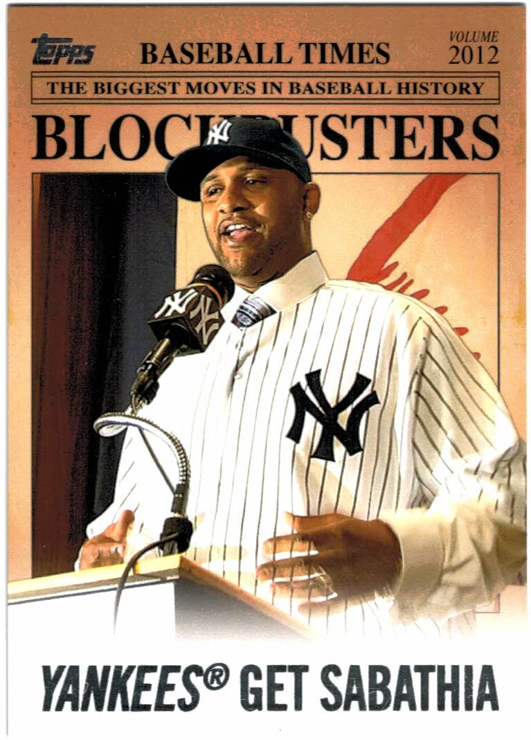 2012 Topps Update Blockbusters #BB2 CC Sabathia