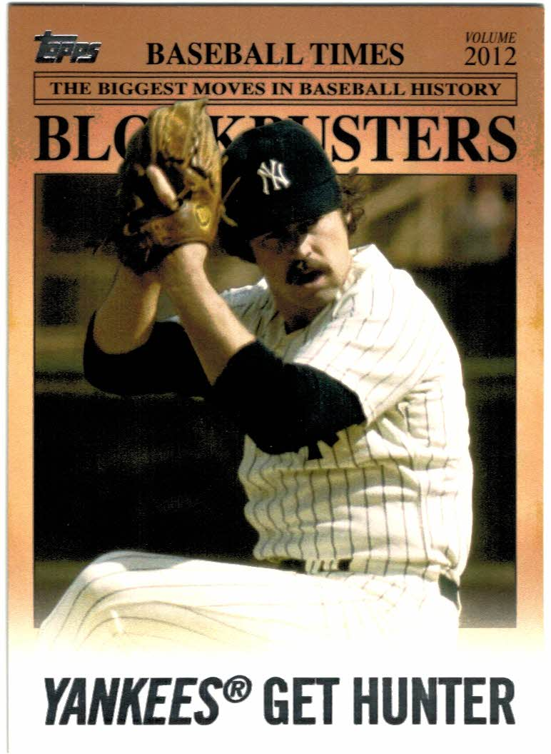 2012 Topps Update Blockbusters #BB17 Catfish Hunter