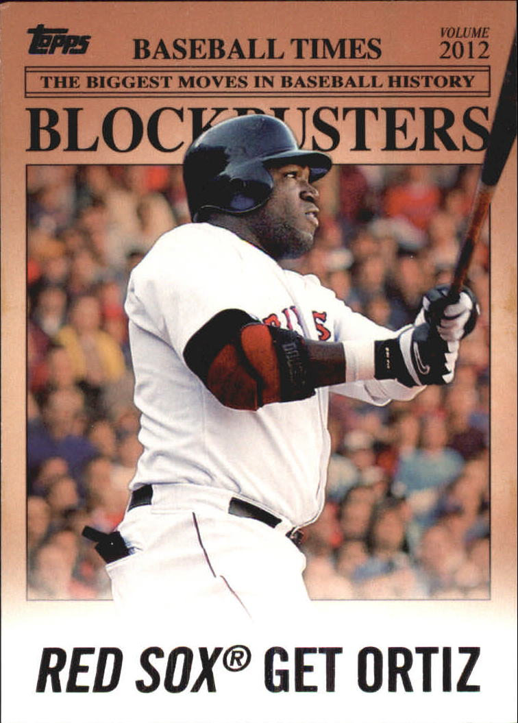 2012 Topps Update Blockbusters #BB20 David Ortiz