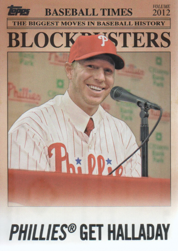 2012 Topps Update Blockbusters #BB21 Roy Halladay