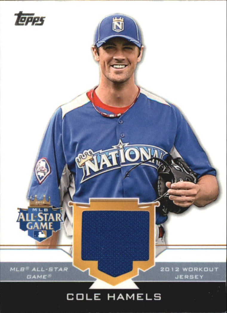 2012 Topps Update All-Star Stitches #CH Cole Hamels