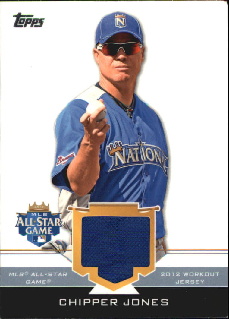2012 Topps Update All-Star Stitches #CJ Chipper Jones