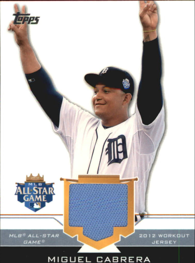 2012 Topps Update All-Star Stitches #MIC Miguel Cabrera