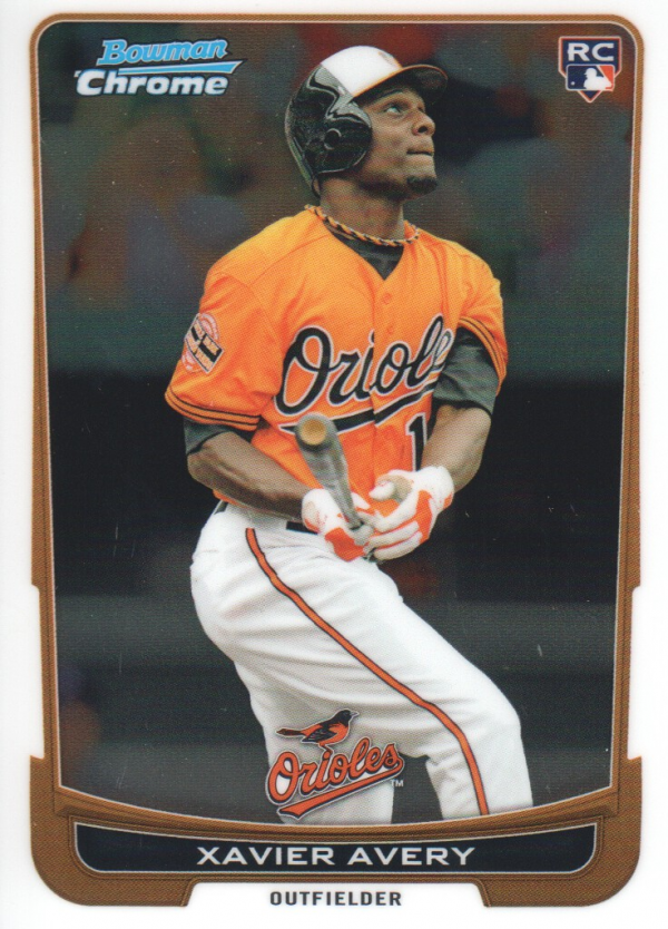 2012 Bowman Chrome #74 Xavier Avery RC