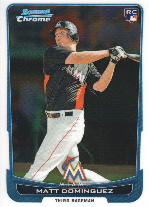 2012 Bowman Chrome #162 Matt Dominguez RC