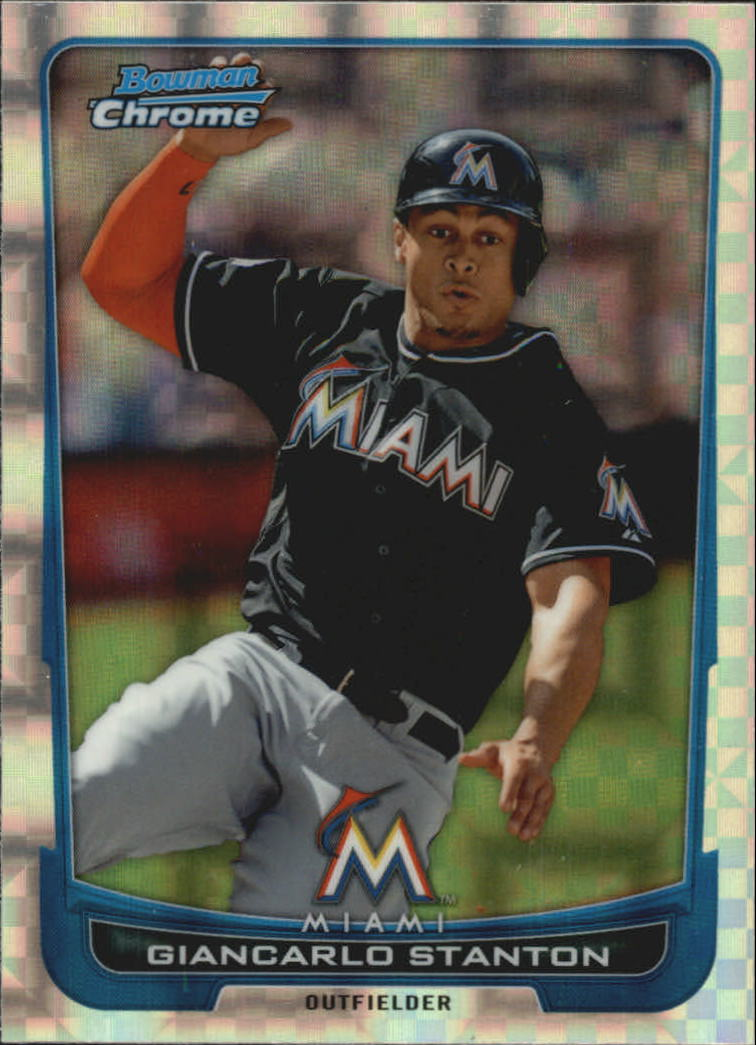 2012 Bowman Chrome Superfractors #5 Giancarlo Stanton