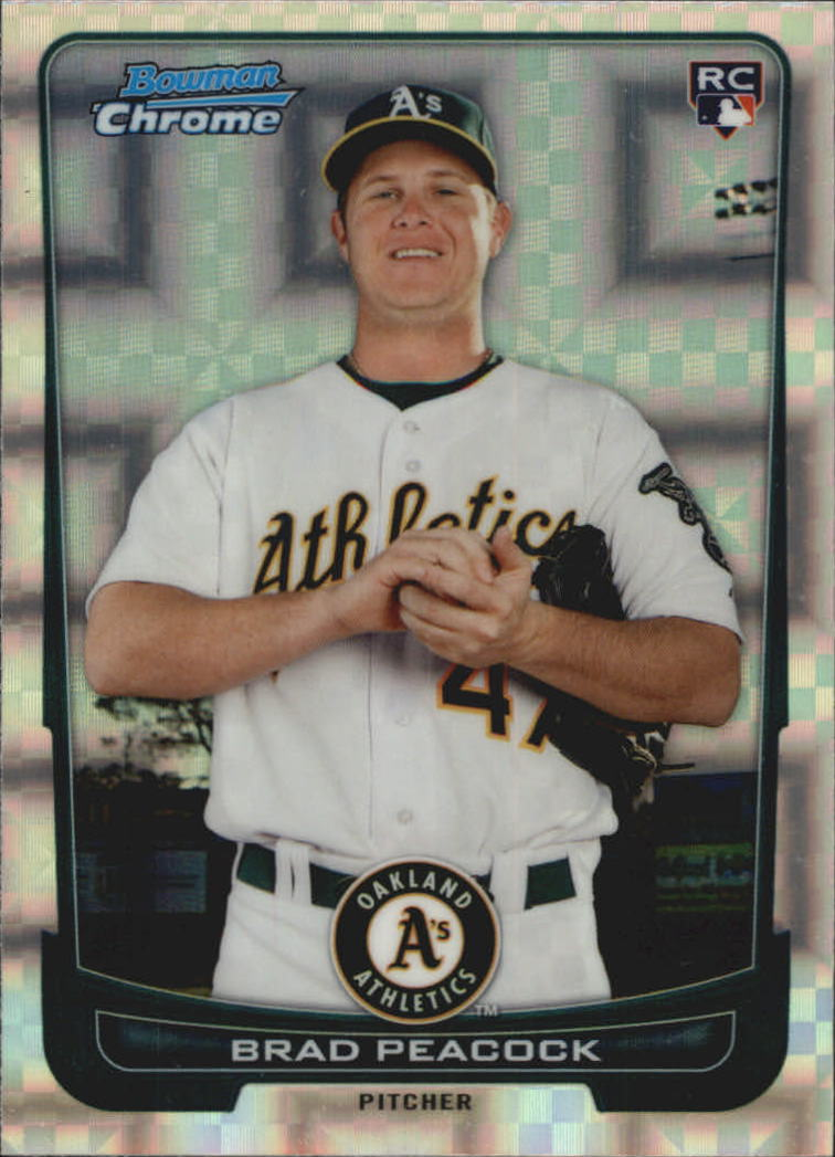 2012 Bowman Chrome Superfractors #21 Brad Peacock