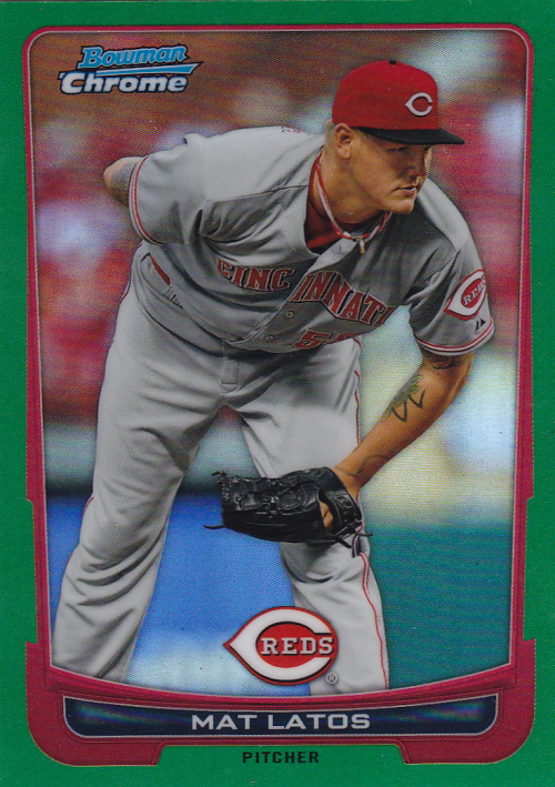 2012 Bowman Chrome Green Refractors #7 Mat Latos