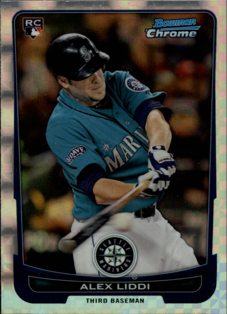2012 Bowman Chrome X-Fractors #6 Alex Liddi