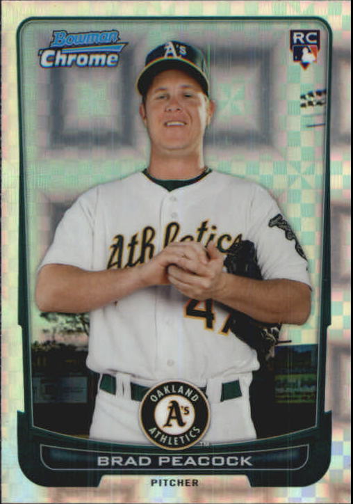2012 Bowman Chrome X-Fractors #21 Brad Peacock