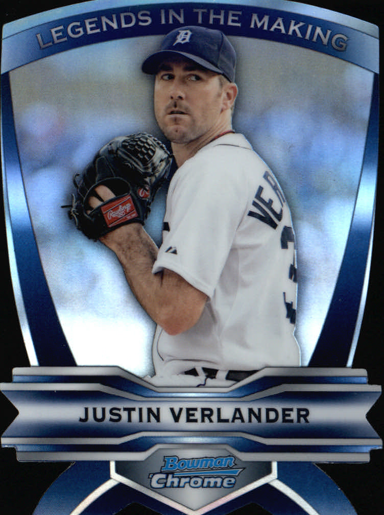 2012 Bowman Chrome Legends In The Making Die Cuts #JV Justin Verlander