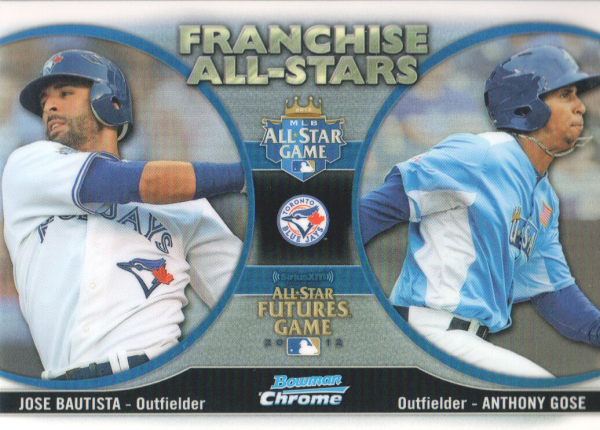 2012 Bowman Chrome Franchise All-Stars #BGO Anthony Gose/Jose Bautista