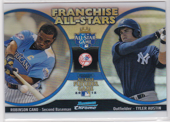 2012 Bowman Chrome Franchise All-Stars #CA Robinson Cano/Tyler Austin