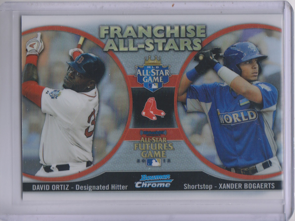 2012 Bowman Chrome Franchise All-Stars #OB Xander Bogaerts/David Ortiz