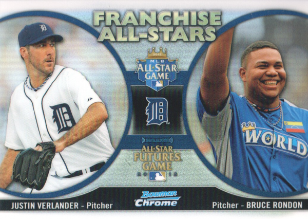 2012 Bowman Chrome Franchise All-Stars #VR Bruce Rondon/Justin Verlander
