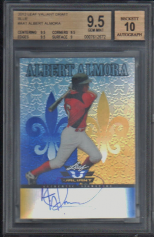 2012 Leaf Valiant Draft Blue #AA1 Albert Almora